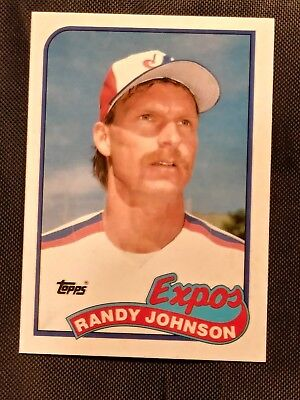 1989 Topps Tiffany Randy Johnson Rookie Card Very Rare Hof Rc