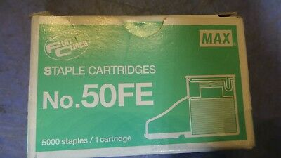 1 – Max Flat Clinch Staple Cartridge for Electric Stapler EH-50F - 50FE.  NEW in