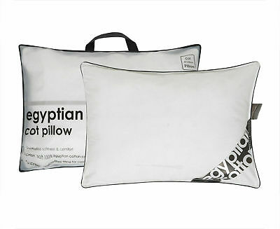 3X Luxury Egyptian Cot Pillow Cotton Comfort Hotel Quality Hollow Fibre Filling