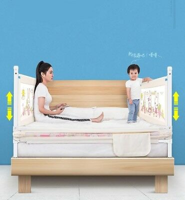 Toddler Child Kid Safety Bedguard Folding Infant Baby Bed Rail Protection Guards