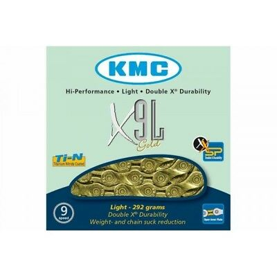 Chaine KMC X9L Gold 9 vitesses Or -50%