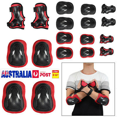 6pcs Skateboard Safety Helmet​ Pads Knee Elbow Protective Gear Set Adult Kid AU