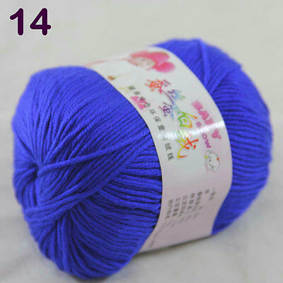 Sale 1ballx50g DK Baby Cashmere Silk Wool Children hand knitting Crochet Yarn 14