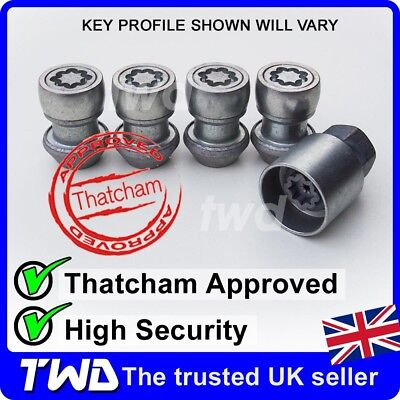 Ford Galaxy Anti Theft Locking Alloy Wheel Nuts // Bolts 2006 Onwards 12x1.50