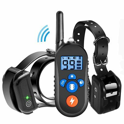 Dog Shock Collar Remote Control Waterproof Electric 330 Yard Large Pet Training