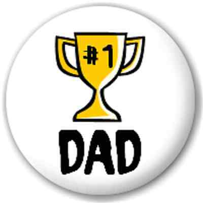 SMALL 25mm #1 DAD – PIN BUTTON BADGE