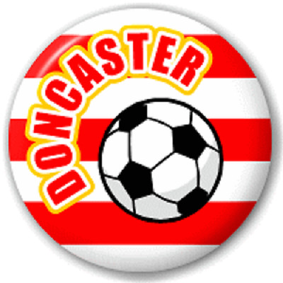 Doncaster Football – 25 Mm Pin Button Badge
