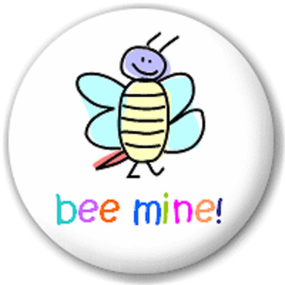 Bee Mine – 25 Mm Pin Button Badge