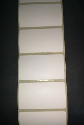 100 WHITE 57mm x 32mm FREEZER ADHESIVE WRITE ON FOOD LABELS