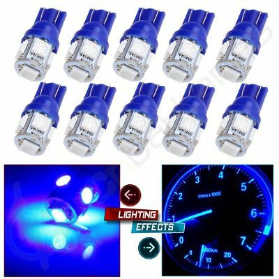 10 T10 Blue 12V 5SMD LED 194 168 158 W5W 501 Side Car Auto Wedge Light Lamp Bulb