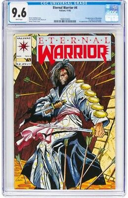 Eternal Warrior #4 (Valiant, 1992) CGC NM+ 9.6 White pages.