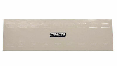 Moroso 97542 Switch Panel Label Sheet - Style Oil Pre-heaters
