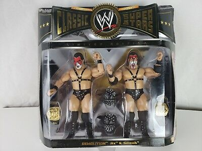 WWE Classic Super Stars Limited Edition Demolition Ax and Smash Pack - NEW NIB