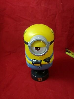 """Despicable Me Minions Theater Cup container Collectible Stuart pedestal 8"""" (f3)"""
