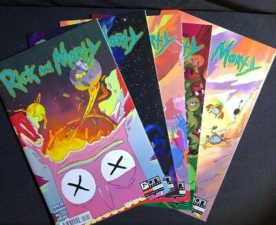 Rick And Morty #12-14, #17-18. Set Of 5 Books. (2015, Oni Books)