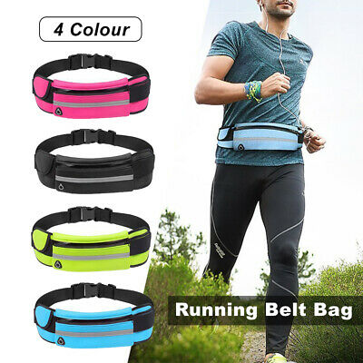 2Running Bum Bag Fanny Pack Travel Waist Bags Money Zip Belt Pouch Sports Wallet