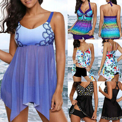 4c72ce423de Women s Plus Size Padded Bikini Swimdress Swimsuit Swimwear Bathing Suit  Tankini