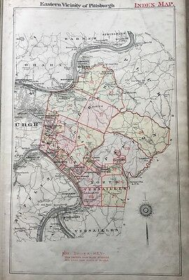 1895 Eastern Vicinity Pittsburgh Pennsylvania Index Page G.m. Hopkins Atlas Map