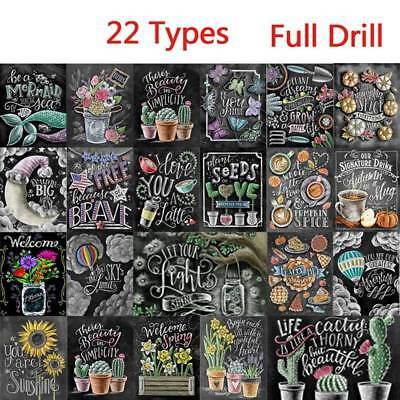 22 Full Drill Blackboard Drawing 5D Diamond Painting Embroidery Craft Home Decor