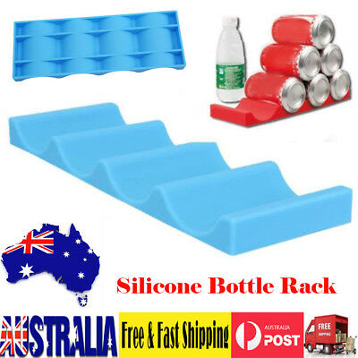 Wine Bottle Organizer Holder Rack Silicone Stacker Cans Fridge Beverages Mats AU