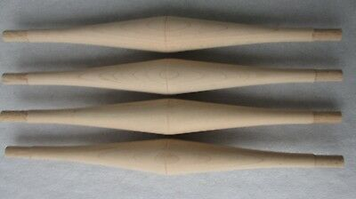 "SET 4 NEW UNFINISHED MAPLE BULBOUS TURNED SPINDLES CHAIR STRETCHERS 14 3/4"" high"