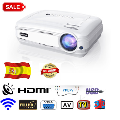 Proyector HD 3D WiFi 1GB/ 8GB Android 6.0 BT Proyector LED Regalo 6000 lumens
