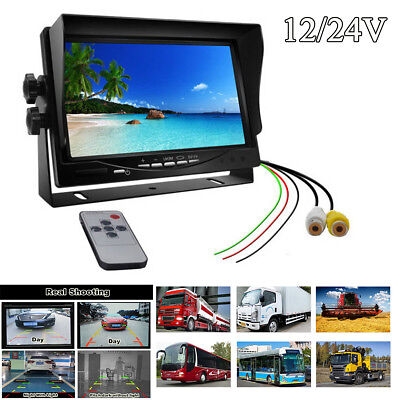 12/24V 7 inch Digital LCD Car Monitor for RV Truck Bus Parking Assistance System