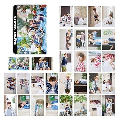 30pcs /set KPOP BTS Bangtan Boys LOMO Cards Self Made Paper Photo Card JIMIN V