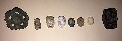 8 Amazing Ancient Scarabs And Seals Collection Ea W/Auction Or Gallery Paperwork