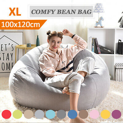Luxury Large Bean Bag Chair Sofa Cover Indoor/Outdoor Game Seat BeanBag Adults