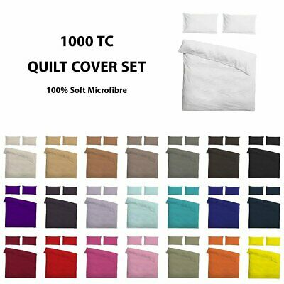 1000TC Microfiber Soft Quilt/Duvet/Doona Cover Set Single/Double/Queen/Supe/King