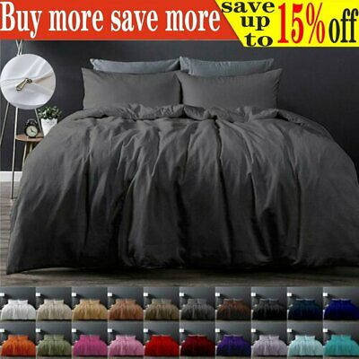 Tailored 1000TC Duvet/Doona/Quilt Cover Set Single/Double/Queen/King Size Bed AU