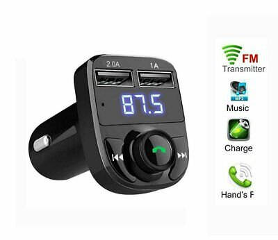 FM Transmitter Wireless Bluetooth Car Kit Radio Adapter USB Charger Music Player