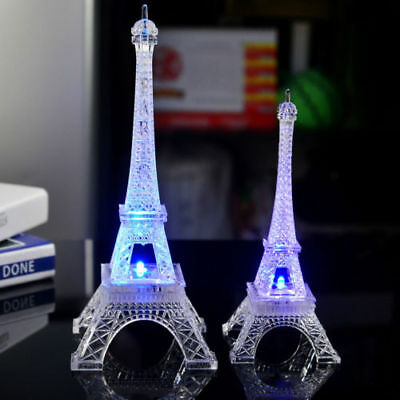 Eiffel Tower Shape LED Color Changing Night Ligh Home Bedroom Decor Individual