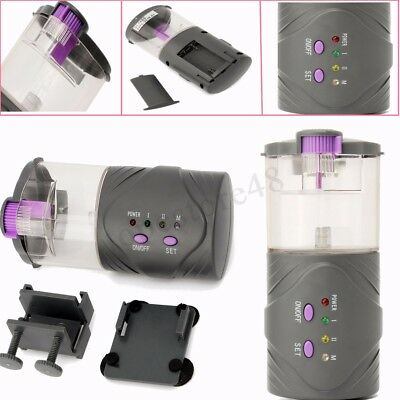 30 Days Automatic Fish Food Feeder LCD Timer Pet Aquarium Tank Pond Tank Black