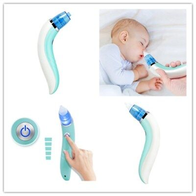 Baby Nasal Aspirator Electric Nose Snot Suction Cleaning Tool 3V 40kPa Five Gear