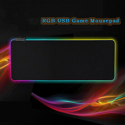 New RGB Colorful LED Lighting Gaming Mouse Pad Mat for PC Laptop 350*250*3mm