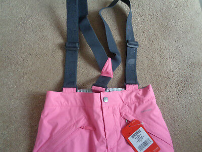The North Face Snowquest Suspender girls pants Size M Age 10-12 years NEW+TAGS