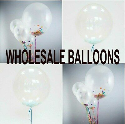 """18"""" INCH WHOLESALE Round Clear Transparent Big Giant Balloons Birthday PARTY"""