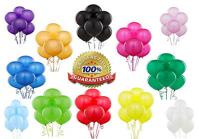"100 X Latex PLAIN BALOONS 10"" BALLONS helium BALLOONS Quality Party Bday Wedding"