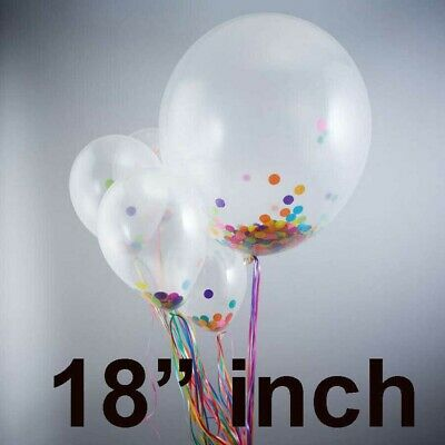 """12"""" INCH WHOLESALE Round Clear Transparent Big Giant Balloons For Birthday NEW"""