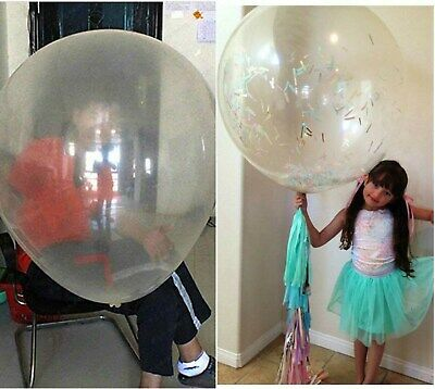 """Clear Transparent 10""""/18""""/36"""" Premium Latex Helium Birthday Party Balloons New"""