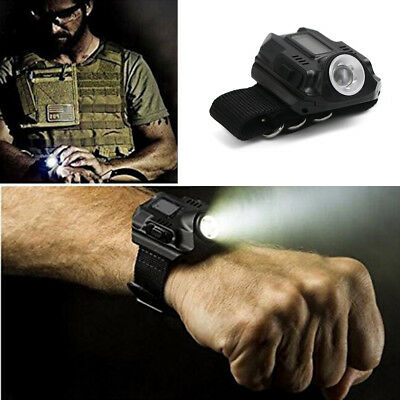 Super Bright Wrist LED Light Rechargeable Waterproof LED Flashlight Watch 1000Lm