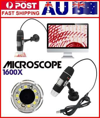 1600x 8-LED USB Electronic Video Camera Digital Microscope Endoscope Magnifier