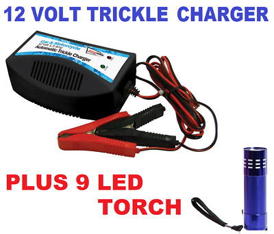 Streetwize Car Trickle Battery Charger 12V For Small Lead Acid Battery - SWTBC