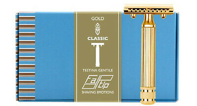 Fatip Testina Gentile Gold Plated Closed Comb Safety Razor 42124