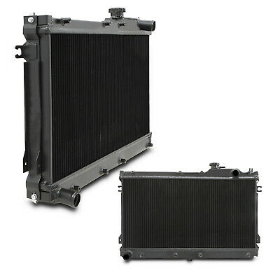 50mm HIGH FLOW BLACK ALLOY RACE RADIATOR RAD FOR MAZDA MX5 MX-5 MK1 NA 1.6 1.8