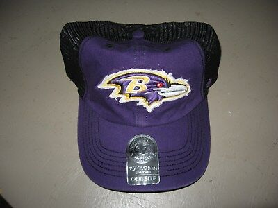 8aa6e8270 New  47 Brand Baltimore Ravens Closer One Size Stretch Fit Mesh Baseball Hat