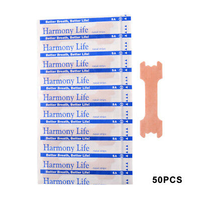 Anti-Snoring Nasal Adhensive Strip 66x19mm Sleeping Care For Adult Kid 50/200PCS