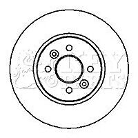 Renault Scenic II 1.6 MPV JM1R 110 Front Brake Pads Discs 280mm Vented